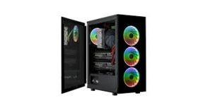 Кутия FSP CMT340 ARGB Gaming TG, ATX, Черен