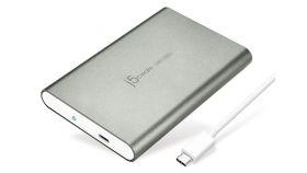 "j5create Чекмедже за диск JEE253 Тип USB-C 3.1  за 2.5"" HDD SATA3 Type-C, сив"