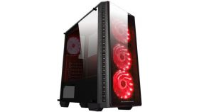 Chassis ASTRO A EN40865 TEMPERED DESIGN (Three sides tempered glass), ATX , Mini ITX, Micro ATX, USB 3.0x1, USB 2.0x2, HD Audio in/out jacks, Front fans: 3x120mm, Top: 2x120mm, 2x140mm, Bottom: 2x120mm, CPU Cooler up to 158mm, VGA up to 360mm