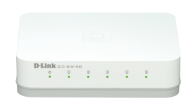 Суич D-Link GO-SW-5G/E неуправляем 5-Port 10/100/1000Mbps Copper Gigabit Ethernet Switch комутатор гигабитов
