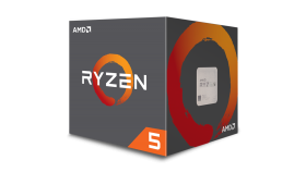 AMD CPU Desktop Ryzen 5 6C/12T 1600 (3.2/3.6GHz Boost,19MB,65W,AM4) box, with Wraith Spire 95W cooler