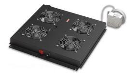 Вент. модул 4-ка с аналог.терм. за сървърен шкаф