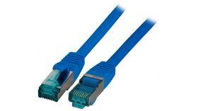 Пач кабел Cat.6A 10m SFTP Син, EFB