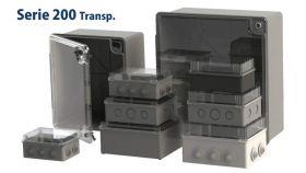 Кутия S200 с прозрачен капак 190x150x70mm, IP65