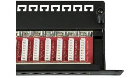 Пач панел 24 порта FTP Cat.6A черен, EFB,