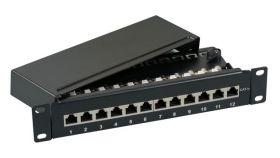 """Пач панел 12 порта FTP Cat.5e, 10"""" 1U EFB"""