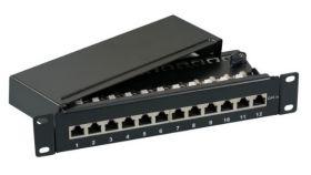 """Пач панел 12  порта FTP Cat.6 10"""" EFB"""