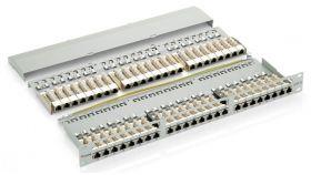 Пач панел 48 порта 1U FTP Cat.6 черен, Equip,