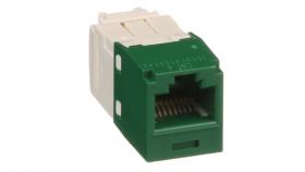 Mini-Com конектор UTP Cat.6 зелен
