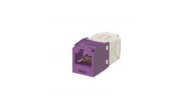 Mini-Com конектор UTP Cat.6 виолетов