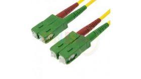 Оптична корда дуплекс 9/125 SC/APC-SC/APC 1m,