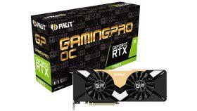PALIT Video Card GeForce RTX 2080Ti nVidia, Gaming Pro OC 11GB GDDR6,352bit ,HDMI,DP1.4x3, USB TypeC part# NE6208TS20LC-150A