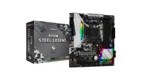 ASROCK B450M STEEL LEGEND B450, 4xDDR4, HDMI/DP ,PCIe 3.0 x16, PCIe 2.0 x1, 2xM.2, 4 SATA3, USB, 1xCOM Port Header, mATX