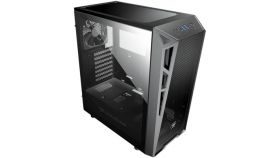 """Chassis COUGAR Turret MESH,Mid-Tower,Mini ITX / Micro ATX / ATX,USB3.0 x 2 / USB2.0 x 1, Mic x 1, Audio x 1,206 x 461 x 420 (mm),Tempered Glass,PSU-Standard ATX PS2,2+2 (converted from 3.5"""" drive bays)"""