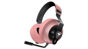 COUGAR Phontum Essential - Pink, Stereo Gaming Headset, 40mm Driver, Extra Large Foam Ear Pad, Steel Headband, Noise Cancellation Microphone, Volume and Microphone Mute Controls??