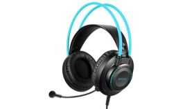 Слушалки с микрофон A4TECH FH200U, Стерео, USB, Черен/Сив
