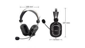Слушалки A4TECH HU-50, Стерео, USB, Черни