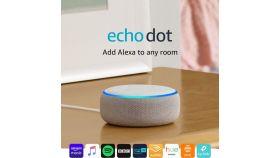 Преносима смарт тонколона Amazon Echo Dot 3 Sandstone, гласов асистент, Бежов