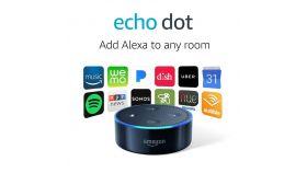 Преносима смарт тонколона Amazon Echo Dot 2, гласов асистент, Черен