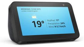 Смарт тонколона Amazon Echo Show 5, сензорен екран, гласов асистент, Черен