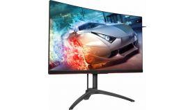 Монитор AOC 31.5 MVA Curved;WLED;2560x1440@144Hz;178/178;4 ms;300;FreeSync 2;FlickerFree;Black;Speakers;Vesa 100x100;D-SUB;HDMI;Displayport;USB 3.0;Warranty 3 Years