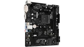 ASROCK Main Board Desktop AM4 A320, 2xDDR4, 1xPCI-E x1, 3xPCI-E x16, DVI-D,VGA, 4 SATA3, 6 USB 3.0 mATX