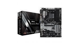ASROCK B450 PRO4 AM4 B450, 4xDDR4, HDMI/DP/D-Sub, 2 PCIe 3.0 x16, 4 PCIe 2.0 x1, 2xM.2, 6 SATA3, Type -C, 7 USB,  1xCOM Port Header, ATX