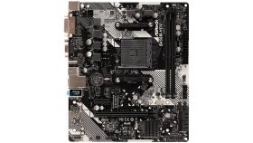 ASROCK Main Board Desktop AM4 B450 (SAM4,2xDDR4,1xPCI 3.0x16,1xPCI Ex1,SATA III,1xM.2,1xUlraM.2,USB3.0,GLAN, VGA,DVI,HDMI,) mATX Retail