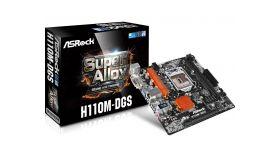 ASROCK Main Board Desktop H110 (S1151, 2xDDR4,1xPCI E 3.0 x16,1xPCI E 2.0x1, SATA III ,GLAN,DVD-D, USB3.0)micro ATX retail
