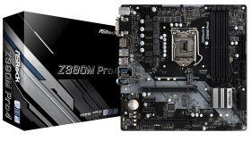 ASROCK Main Board Desktop Z390 (S1151, 4xDDR4,2xPCIe x16,2xPCI Ex1, 6 SATA3, 2xUltra M.2 ,GLAN,VGA, DVI, HDMI, COM Header,6 USB 3.1 ) mATX retail