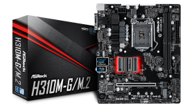 ASROCK Main Board Desktop H310 (S1151, 2xDDR4,1xPCIe x16,2xPCI Ex1, 4 SATA3, 1xM.2,GLAN,VGA,DVI,HDMI,USB 3.1 ) mATX retail