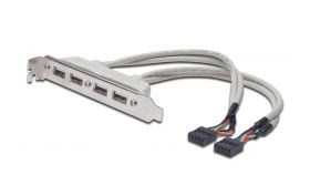 ASSMANN AK-300304-002-E :: DIGITUS USB Slot Bracket кабел с планка