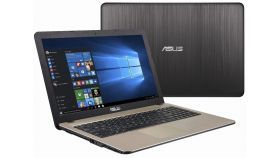 "Asus X541NA-GO020, Intel Dual-Core Celeron N3350 (up to 2.4 GHz, 2MB), 15.6"" HD (1366X768) LED Glare, Web Cam, 4096MB DDR3L 1600MHz, 1TB HDD, Intel HD Graphics , DVD+/-RW, 802.11n, BT 4.0, Linux, Black"