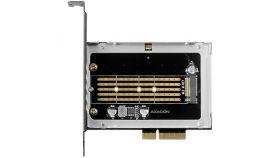 AXAGON PCEM2-NC PCI-E 3.0 4x - M.2 SSD NVMe, up to 80mm SSD + passive cooler