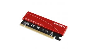 AXAGON PCEM2-S PCI-E 3.0 16x - M.2 SSD NVMe, up to 80mm SSD, low profile, cooler