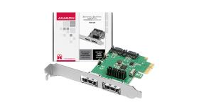 AXAGON PCES-SA4 PCIe Controller 2x Int./Ext. SATA III 6G ASMedia