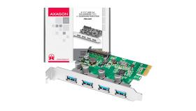 AXAGON PCEU-430V PCIe Adapter 4x USB3.0 UASP VIA