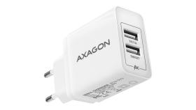 AXAGON ACU-5V3 wall charger 5V 2,1A + 1A, 15,5W, white-grey
