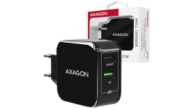 AXAGON ACU-QC5 wall charger Smart 5V 2,4A + 1x QC3.0, 30W, black
