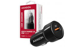 AXAGON PWC-QC car charger 1x QC3.0, 18W, black