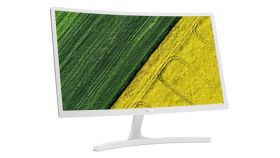 """Monitor Acer ED242Qrwi 60 cm (23.6"""") VA LED Curved, 16:9 Full HD (1920x1080@75 Hz) AMD FREESYNC, response time: 4 ms, Contrast: 100M:1,  Brightness: 250 cd/m2, Viewing Angle: 178°/178°, HDMI, VGA, White, Acer ComfyView Display, 2 years warranty"""