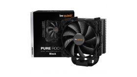 be quiet! PURE ROCK 2 BLACK, Intel: 1200/ 2066/ 1150/ 1151/ 1155/ 2011(-3) square ILM, AMD: AM4 / AM3(+), TDP (W) - 150, 1x Pure Wings 2 PWM, dimensions without mounting material (L x W x H), (mm): 87 x 121 x 155, 3Y warranty