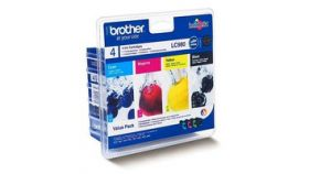 Brother LC980 Value Multipack (DCP-165C-MFC-295CW- MFC-290C - DCP-265CN - DCP-375CW), Black, Cyan, Magenta, Yellow