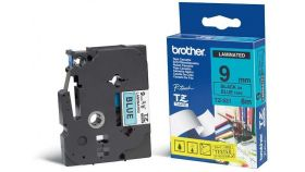 Tape BROTHER TZ Tape 9mm Black on Blue, Laminated, 8m lenght, for P-Touch