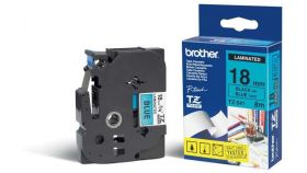 TZ Tape BROTHER 18mm Black on Blue, Laminated, 8m lenght, for P-Touch
