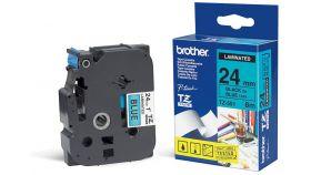 TZ Tape BROTHER 24mm BLACK ON BLUE