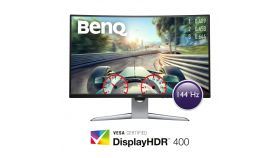 Монитор BenQ EX3203R, VA, 31.5 inch, Wide, 1440p, 144Hz, HDMI, DisplayPort, Type-C, Извит, DisplayHDR 400, AMD FreeSync 2, Сив