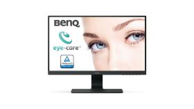 Монитор BenQ GW2480E, IPS, 23.8 inch, Wide, Full HD, D-sub, HDMI, DisplayPort, Черен
