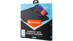 Mouse Mat with wireless charger, Input 5V/2A, Output 5W, 324*244*6mm, Micro USB cable length 1m, Black, 220g