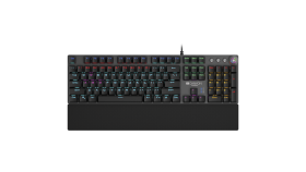 Wired Gaming Keyboard,Black 104 mechanical switches,60 million times key life, 22 types of lights,Removable magnetic wrist rest,4 Multifunctional control knob,Trigger actuation 1.5mm,1.6m Braided cable,US layout,dark grey, size:435*125*37.47mm, 840g